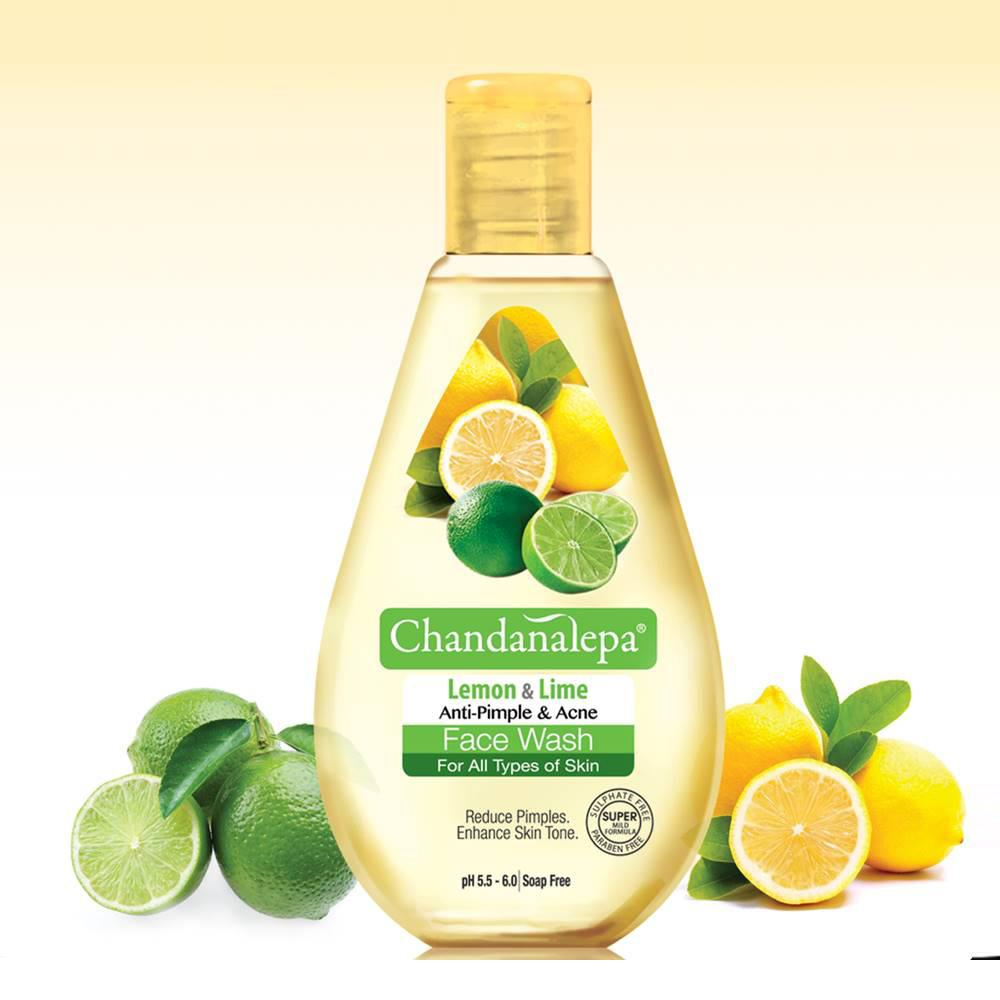 Face Wash - FACE WASH Lemon And Lime Anti Acne & Pimple 100ml - Chandana