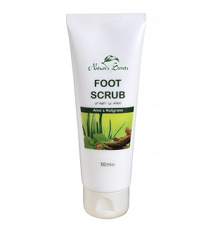 Leg Feet & Body Care - Foot Scrub – Aloe & Nut-Grass-Nature Secrets-100ml