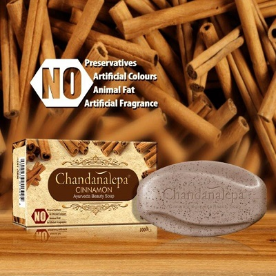 Leg Feet & Body Care - Ayurveda Herbal Soap-CINNAMON Chandanalepa-100g