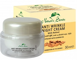 WHITENING CREAM and FACE CREAM ,NIGHT CREAM - ANTI WRINKLE NIGHT CREAM-NATURE SECTRETS- 50ML