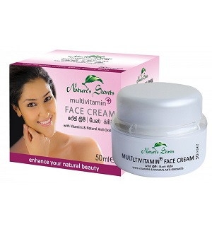 WHITENING CREAM and FACE CREAM ,NIGHT CREAM - Multivitamin Face Cream-Nature Secrets-15ml