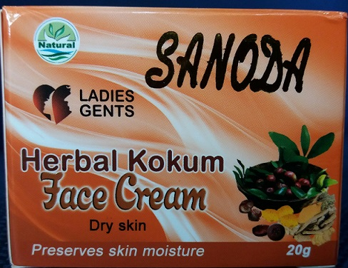 WHITENING CREAM and FACE CREAM ,NIGHT CREAM - KOKUM FACE CREAM -SANODA -20G
