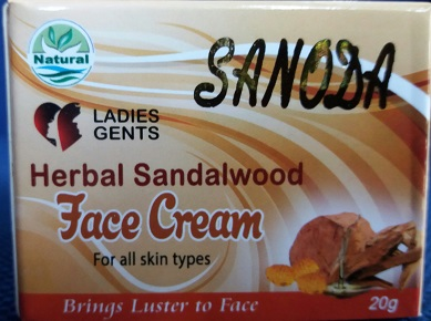 WHITENING CREAM and FACE CREAM ,NIGHT CREAM - SANDUN FACE CREAM - SANODA 20G