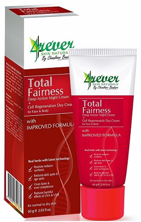 WHITENING CREAM and FACE CREAM ,NIGHT CREAM - TOTAL FAIRNESS 60G - 4EVER